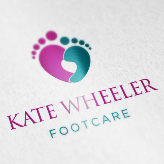 Logo Design Droitwich Worcestershire Kate Wheeler Footcare