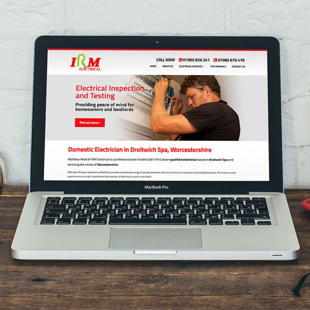Responsive Website Design Droitwich Worcestershire Irm Electrical