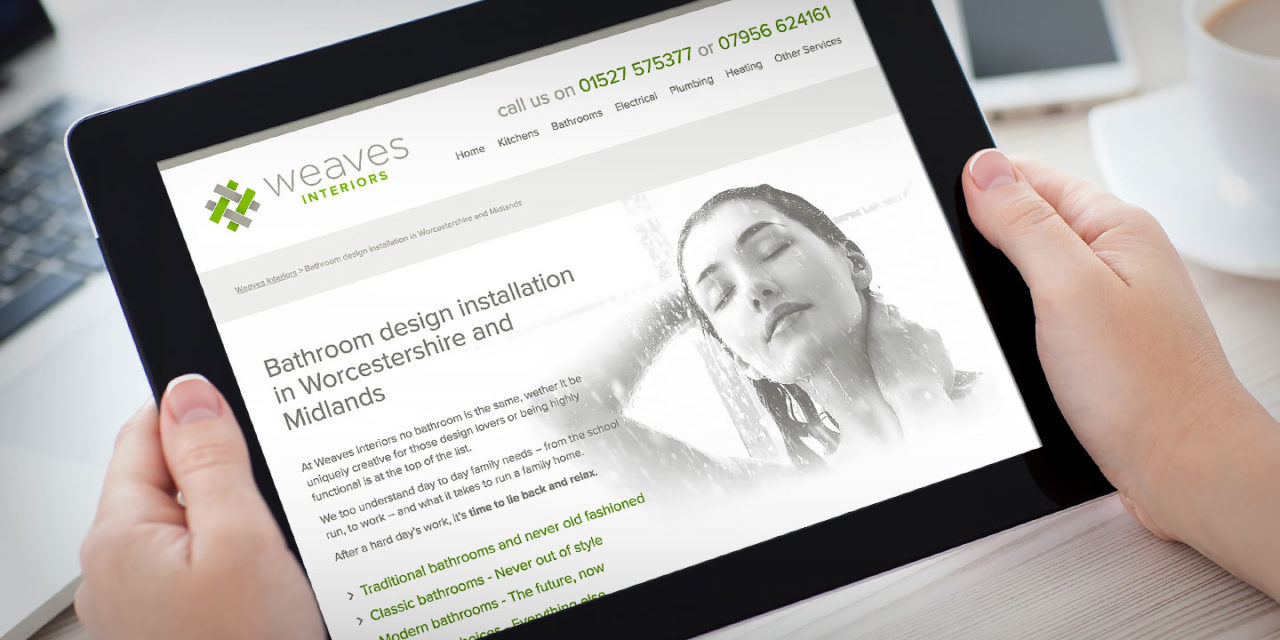 Responsive Website Design Droitwich Worcestershire Weaves Interiors